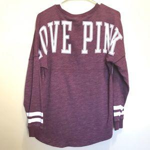 Burgundy VS Pink Long Sleeve